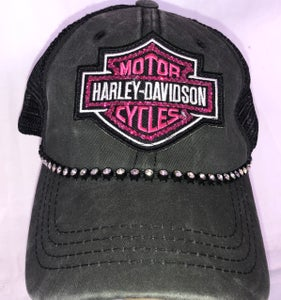 Image of Harley Davidson Crystal Patch-Patch Can Be Put On Any Hat Style