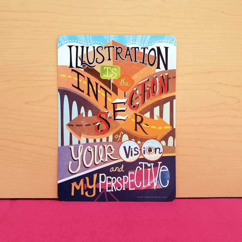 Image of Illustration Is... Typography Print