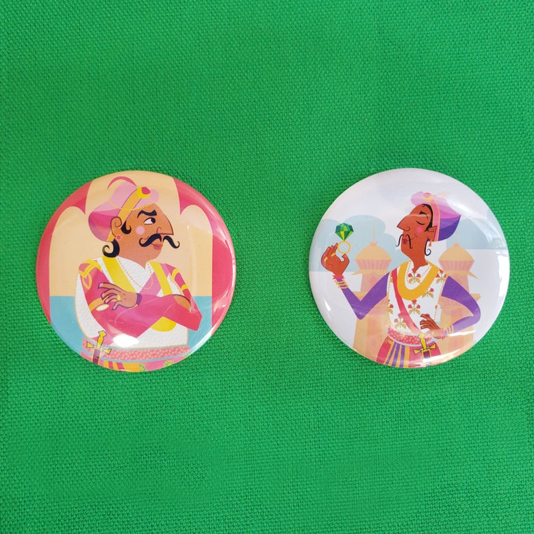 Image of Akbar & Birbal Two-Pin Set