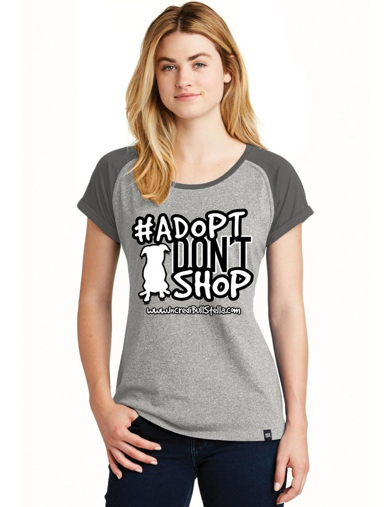 Image of Adopt Don't Shop - Women's Jersey Tee