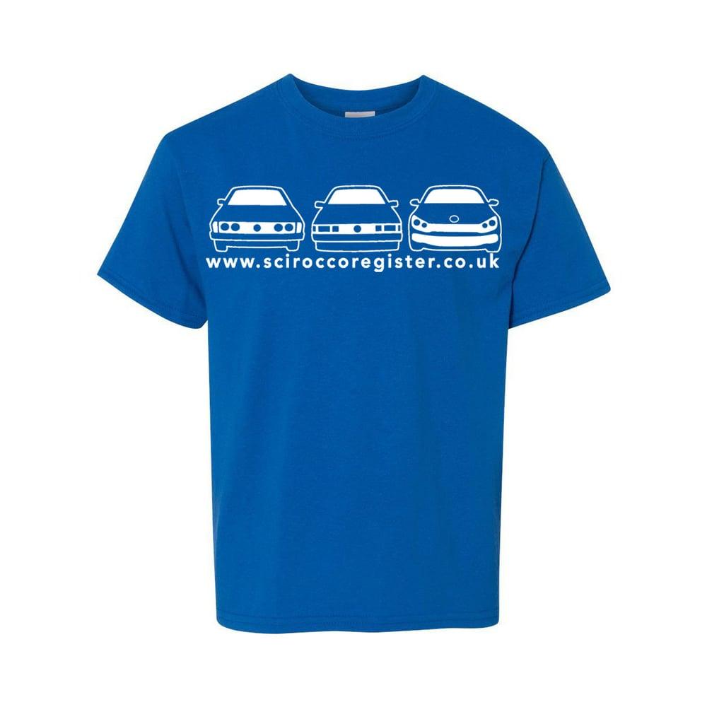 Image of Men's 3 Car Logo - Blue