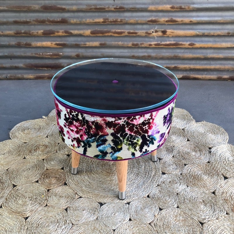 Image of Matilda Glass top table / footstool