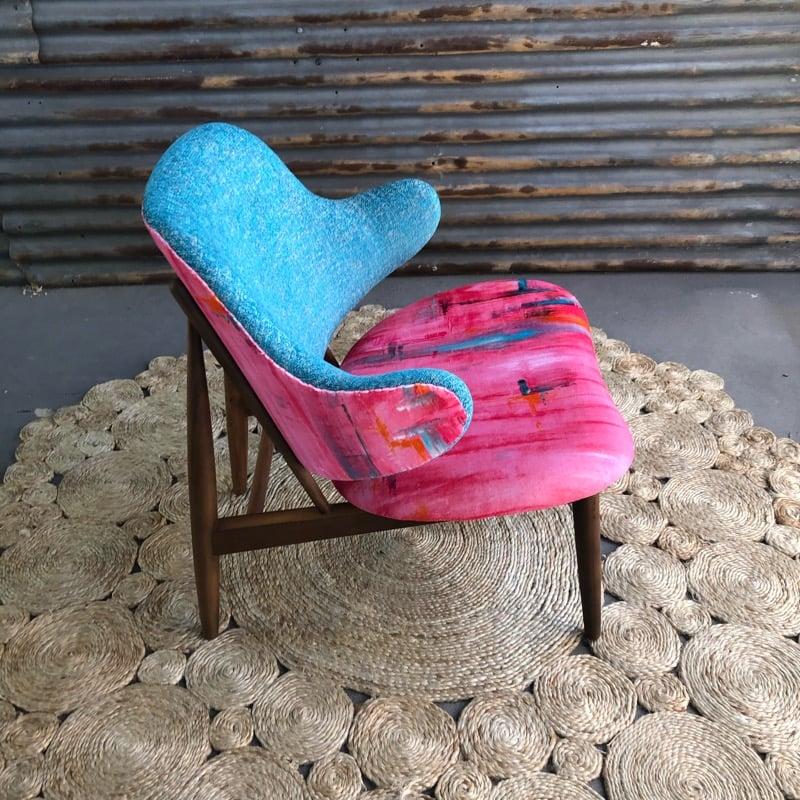 Image of Blue lemonade chair