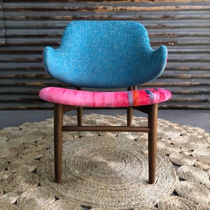 Image of Blue lemonade chair