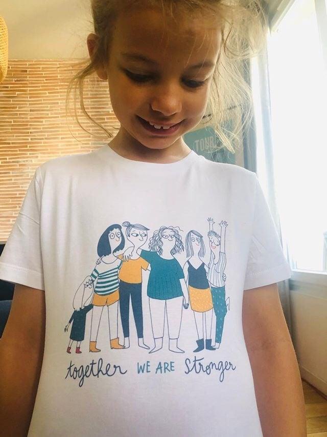 Image of t-shirt enfant - the simones x mathou - together stronger