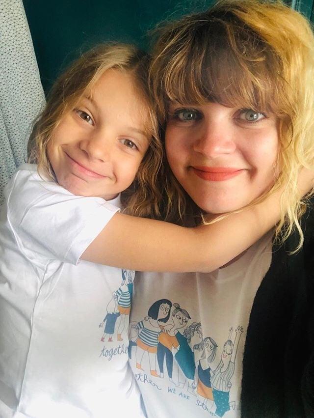 Image of t-shirts duo femme + enfant - THE SIMONES X MATHOU