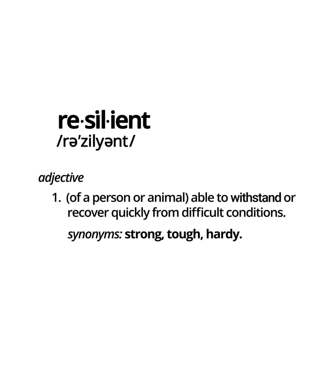 "Image of ""Resilient Defined"" Tee"