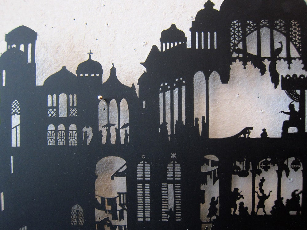 Image of Nylmah lasercut: pages two, three and four
