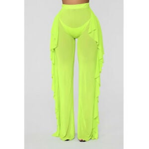 Image of Mesh flare frill pants various colours available