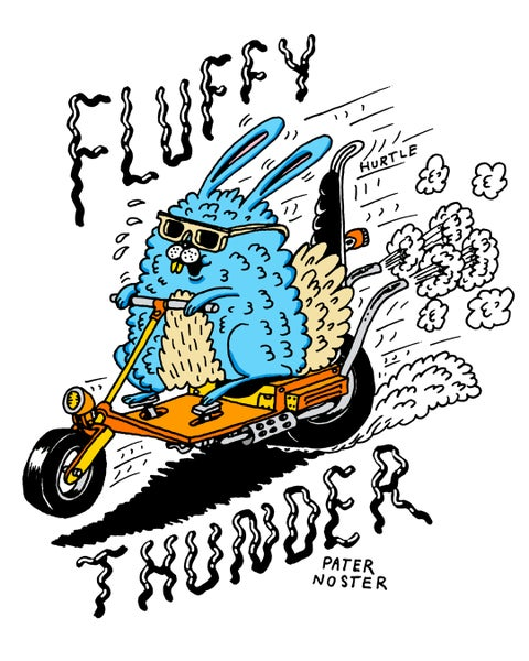 Image of Fluffy Thunder A4 Signed Print