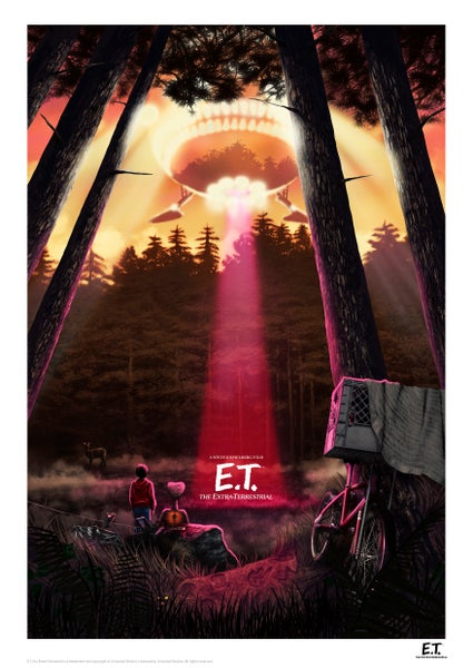 Image of E.T. Sunset A3 (officially licensed artist proof copies)