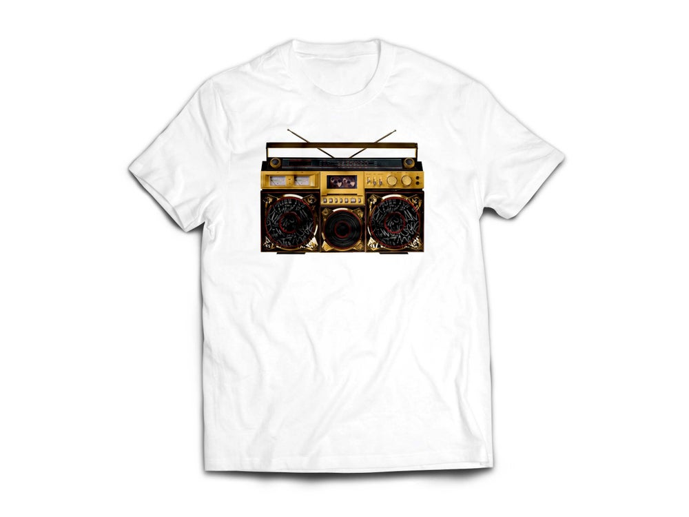 "Image of Adult White ""BoxTaLk"" Tee"