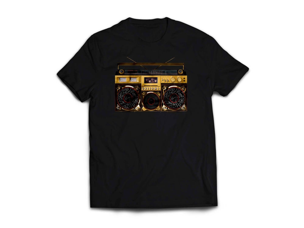 "Image of Adult Black ""BoxTaLk"" Tee"