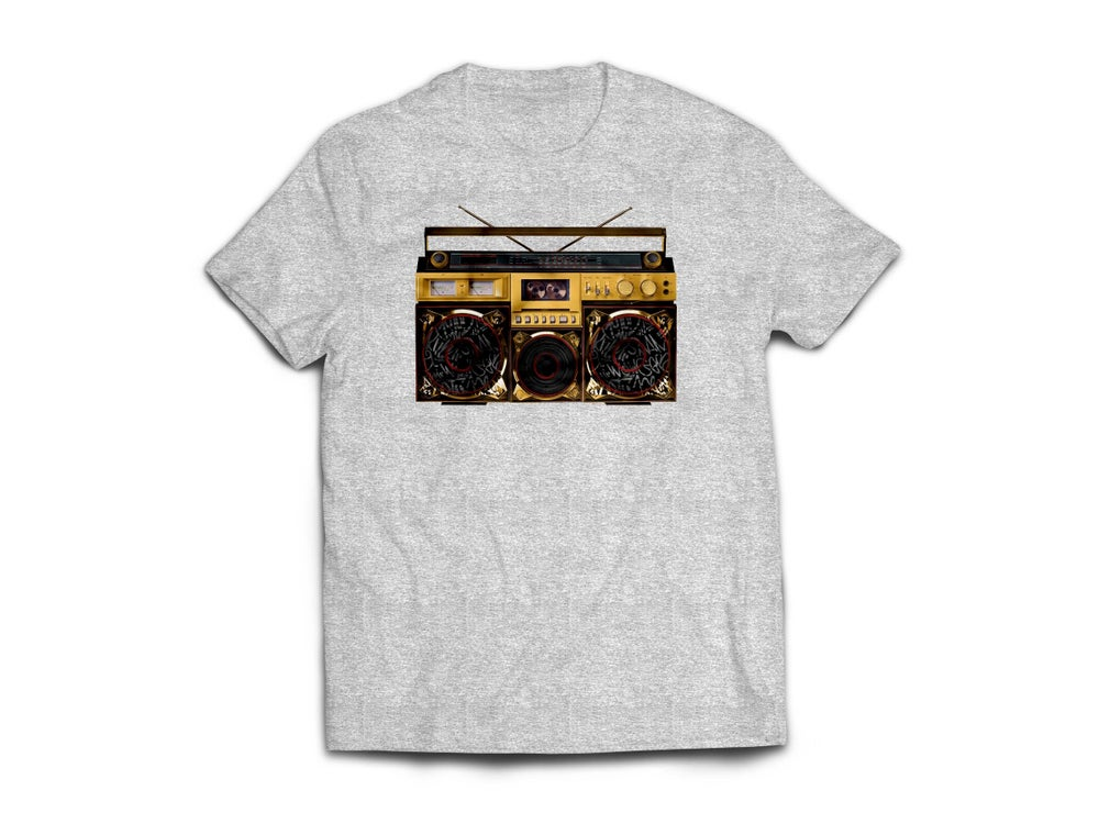 "Image of Adult Grey ""BoxTaLk"" Tee"