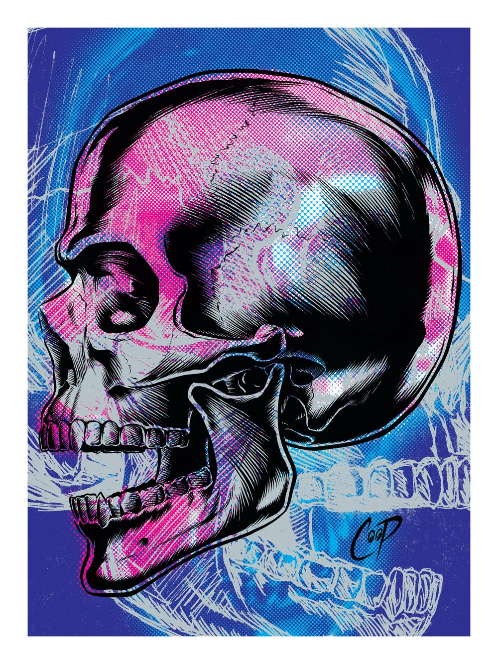 Image of MEMENTO MORI (Version Two) silkscreen print
