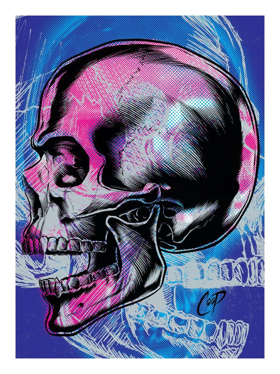 Image of MEMENTO MORI (Version Two) silkscreen print