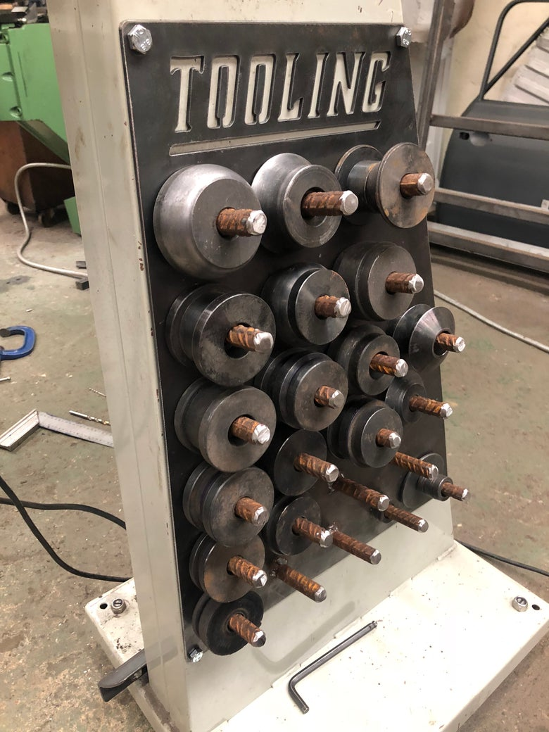 Image of Beadroller Tooling Rack, Beadrolling Die Holder