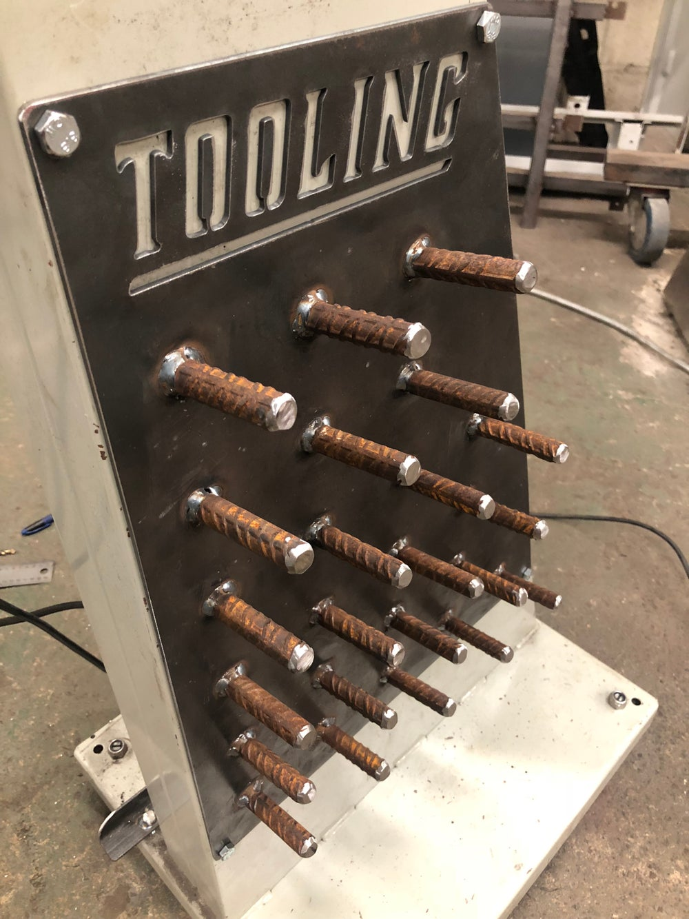 Beadroller Tooling Rack, Beadrolling Die Holder