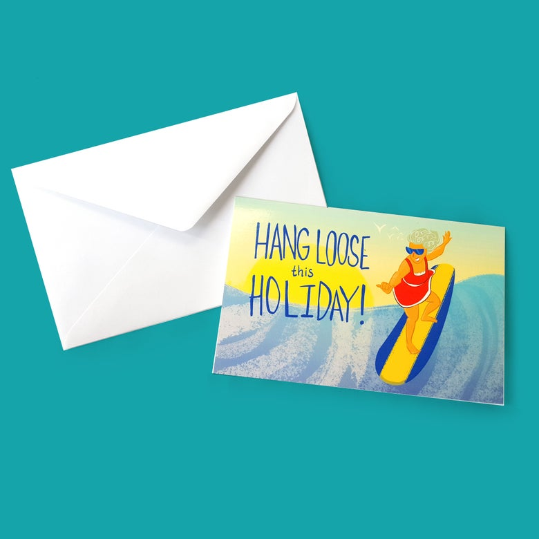Image of Hang Loose this Holiday! Christmas Card