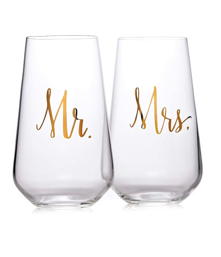 Image of Mr. & Mrs Wine Glass Set
