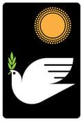 Image of Peacebird Silkscreen Peace Dove Print - NEW!