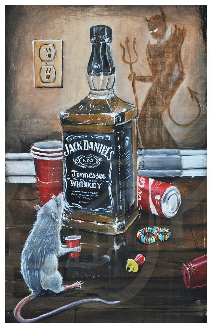 Image of Devils Choice Jeremy Worst rat wants some jack daniels too coca cola coke solo red cup outlet candy