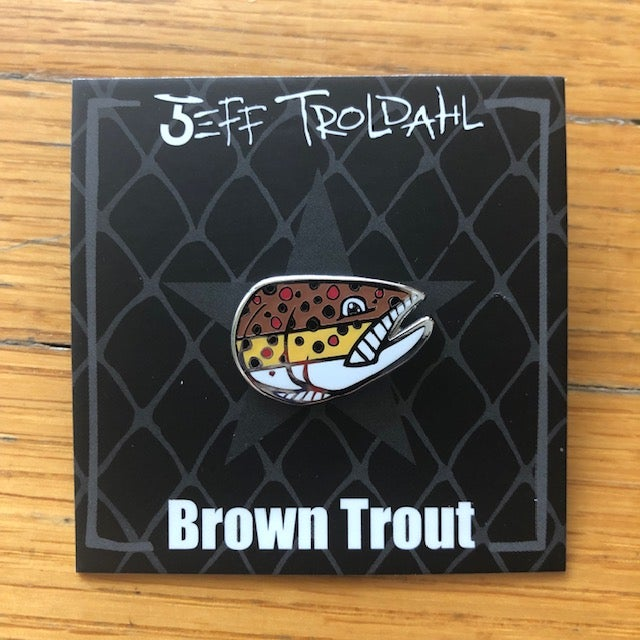 Image of Brown Trout Hat/Lapel Pin