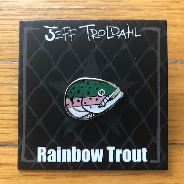 Image of Rainbow Trout Hat/Lapel Pin