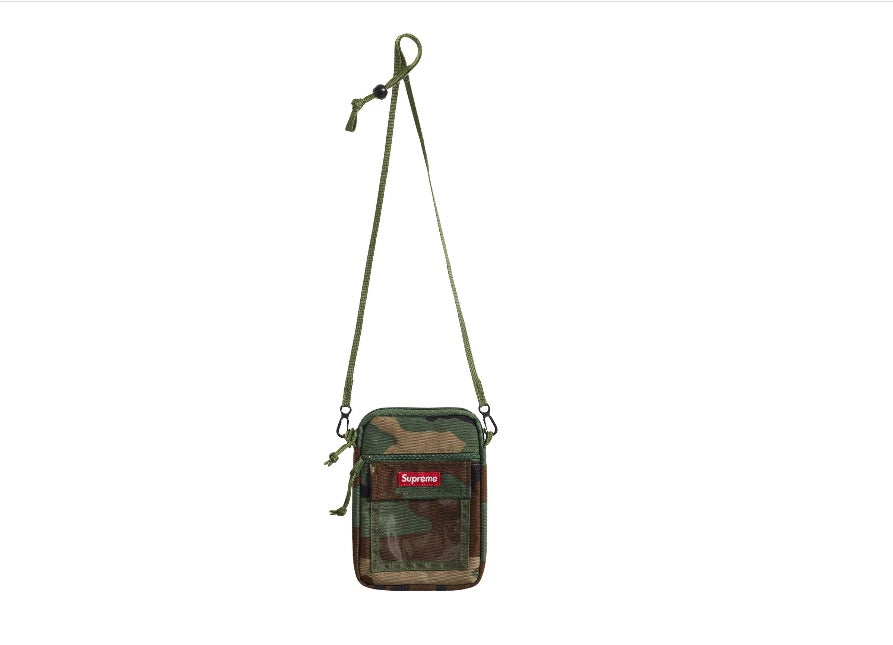 Image of Supreme Woodland Camo Utility Tote w/ 5 Supreme Stickers
