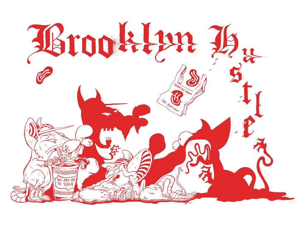 "Image of ""Brooklyn Hustle 99cent pizza"" Print"