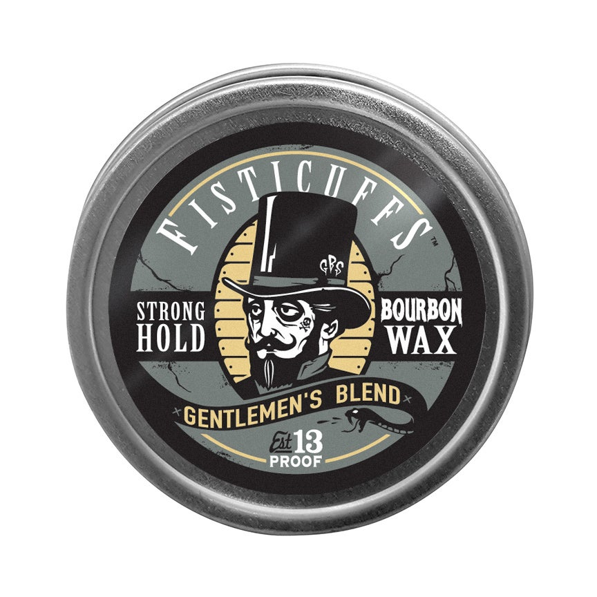 Image of Fisticuffs™ Gentlemen's Blend Strong Hold Mustache Wax 1 OZ. Tin