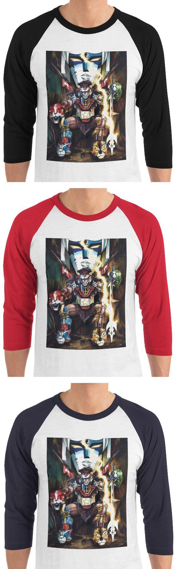 Image of VÖL-TRAHN the Barbarian 3/4 sleeve t-shirt