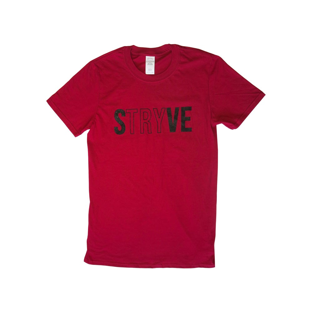 Image of Red STRYVE T-shirt