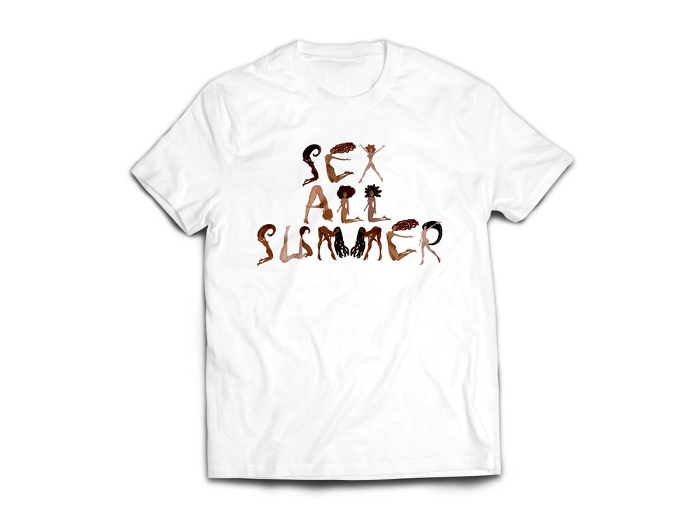 "Image of Adult White ""SeX All SumMeR"" Tee"