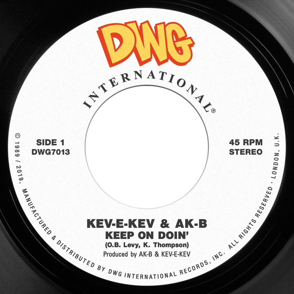 "Image of Kev-E-Kev & Ak-B 'Listen To The Man'/'Keep On Doin' 7"" REPRESS"