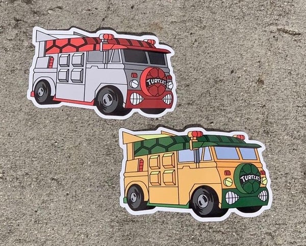 "Image of TMNT_Wiz Van 4"" Premium Stickers! *2 Pack*"
