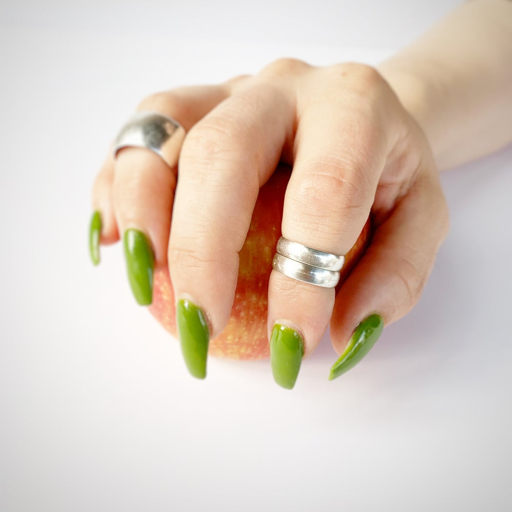 Image of Wide sterling midi ring