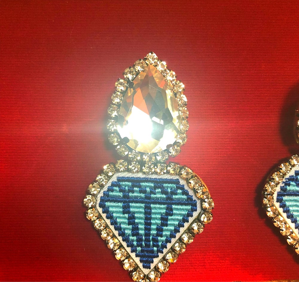 "Image of ""Bling Bling"" Embellished Drop Earring"