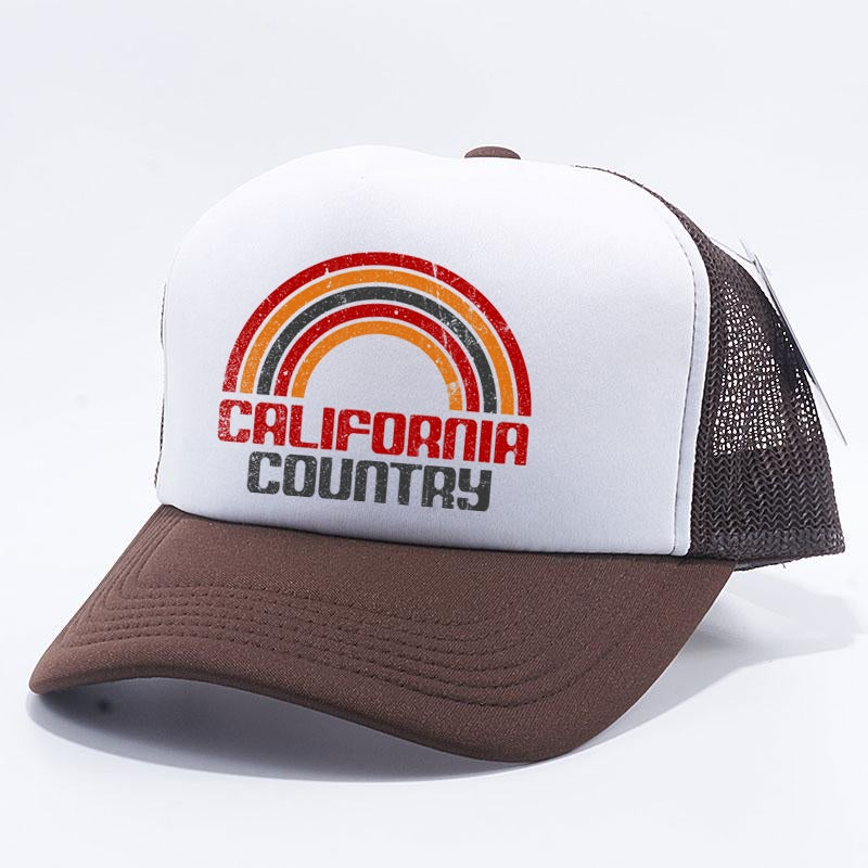 Image of California Country Trucker Hat - Brown