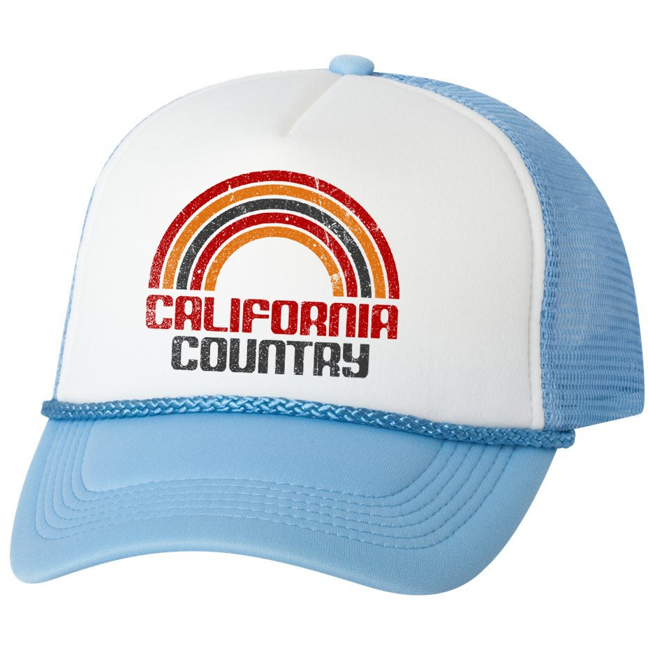 Image of California Country Trucker Hat - Baby Blue