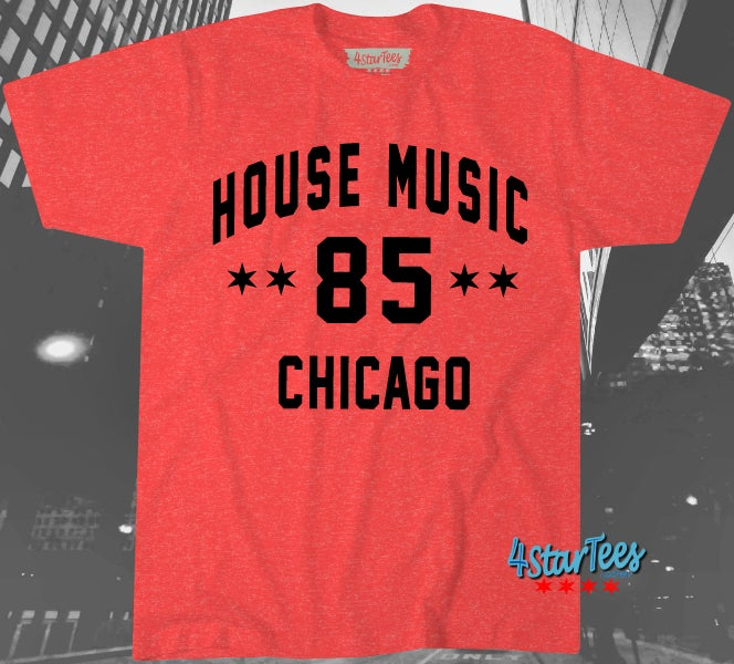 Image of HOUSE 85 Tee - Unisex Heather Red