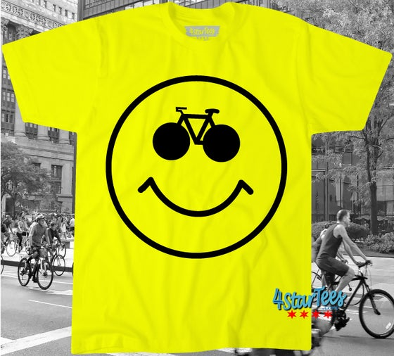 Image of SMILEY BIKE - UNISEX NEON YELLOW