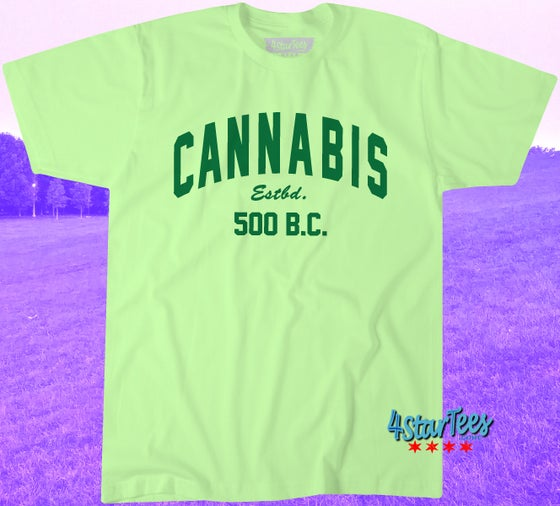 Image of CANNABIS 500 - UNISEX MINT GREEN