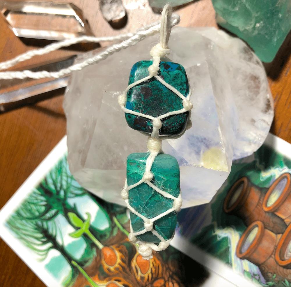 "Image of ""Divine Femininity"" Chrysocolla Necklace"