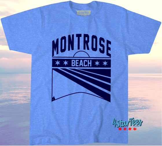 Image of MONTROSE BEACH *PREORDER TIL AUGUST 12th - UNISEX HEATHER ROYAL
