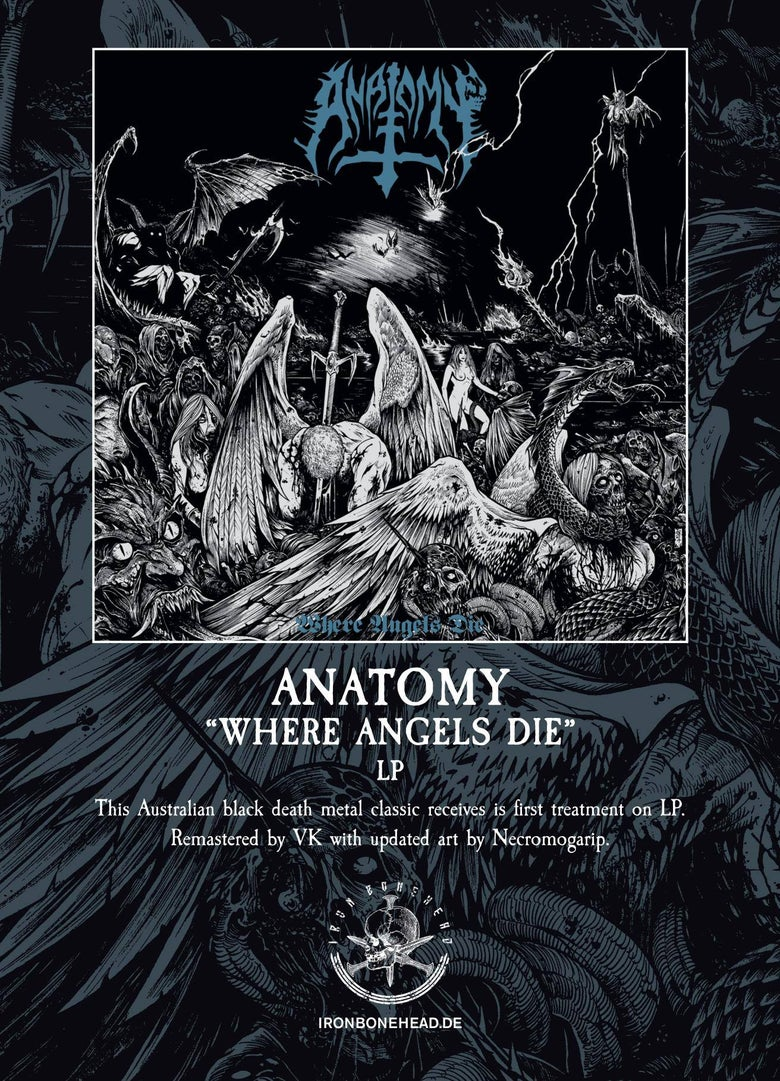 "Image of ANATOMY - ""WHERE ANGELS DIE "" VINYL 12"" LP"