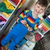 Blue Corduroy Rainbow Dungarees 0-13 Y