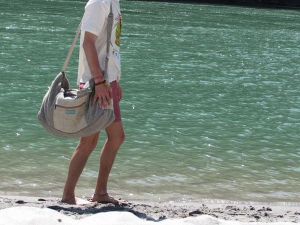 Image of Hemp Duffel Bag - Onyx   100% Vegan   Eco Friendly   Handmade   Weekend Holdall   Himalayan Hemp