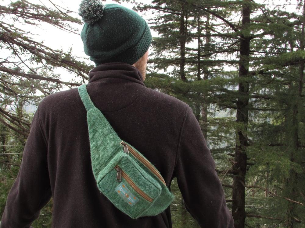Organic Hemp Bumbag - Jade | 100% Vegan | Eco Friendly | Handmade | Money Belt | Himalayan Hemp