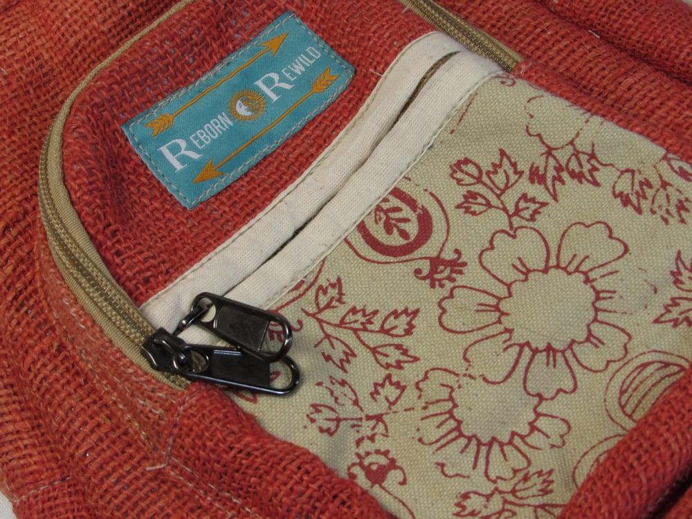 Pure Hemp Mini Backpack - Emilia | 100% Vegan | Eco Friendly | Handmade | Himalayan Hemp